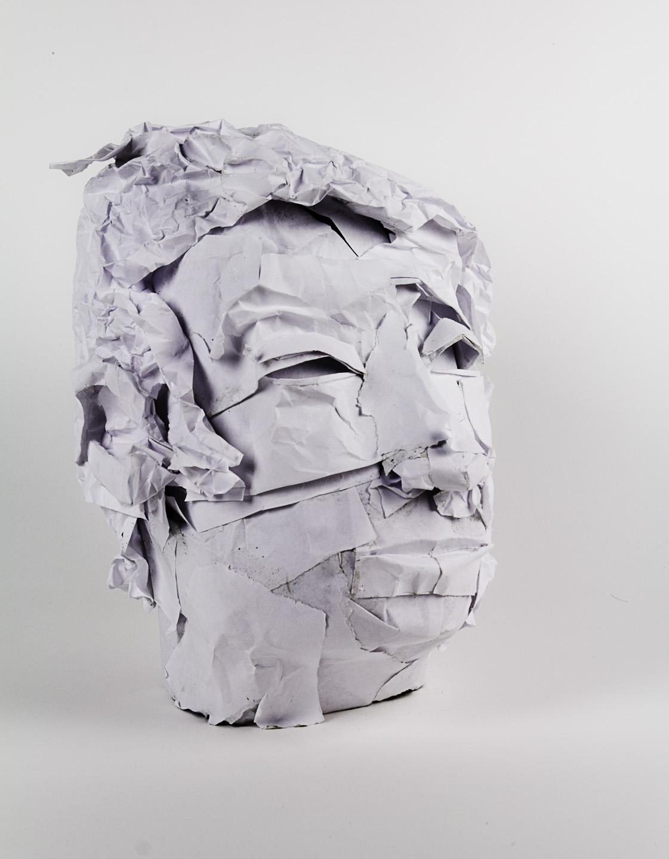 Christopher Ornelas   Rūpam Anattā, Part 1 in Non-self (Portrait) Series , 2011  Paper and phenolic foam