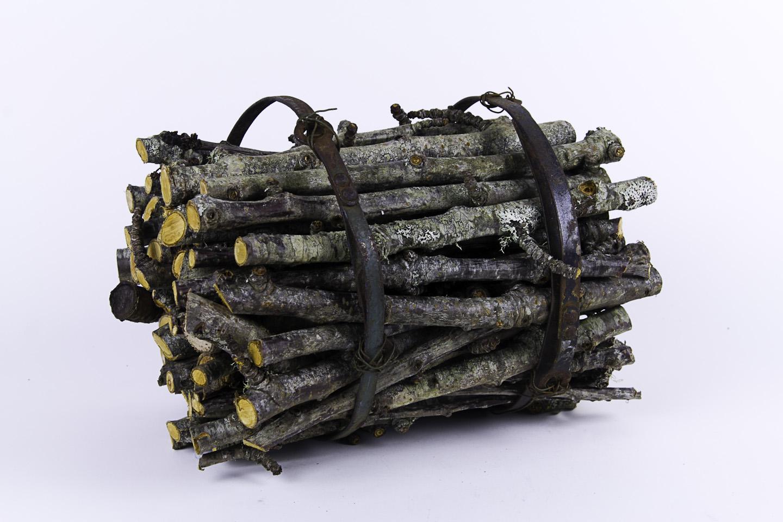 Helen Gamble   bundle , 2011  Apple wood and metal scraps