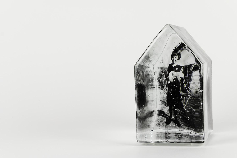 Theresa Batty   The White Rabbit and the Velveteen Dress , 2011  Photo-sensitized cast glass