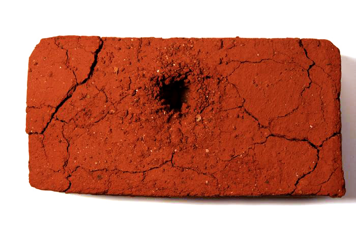 "Andy Behrle     Red Mountain Brick   (33  *  29  '  11  .  58  "" N,   86  *  48  '  34  .  32  "" W  )  ,  2012  Dirt (Red Mountain in Birmingham, Alabama)"