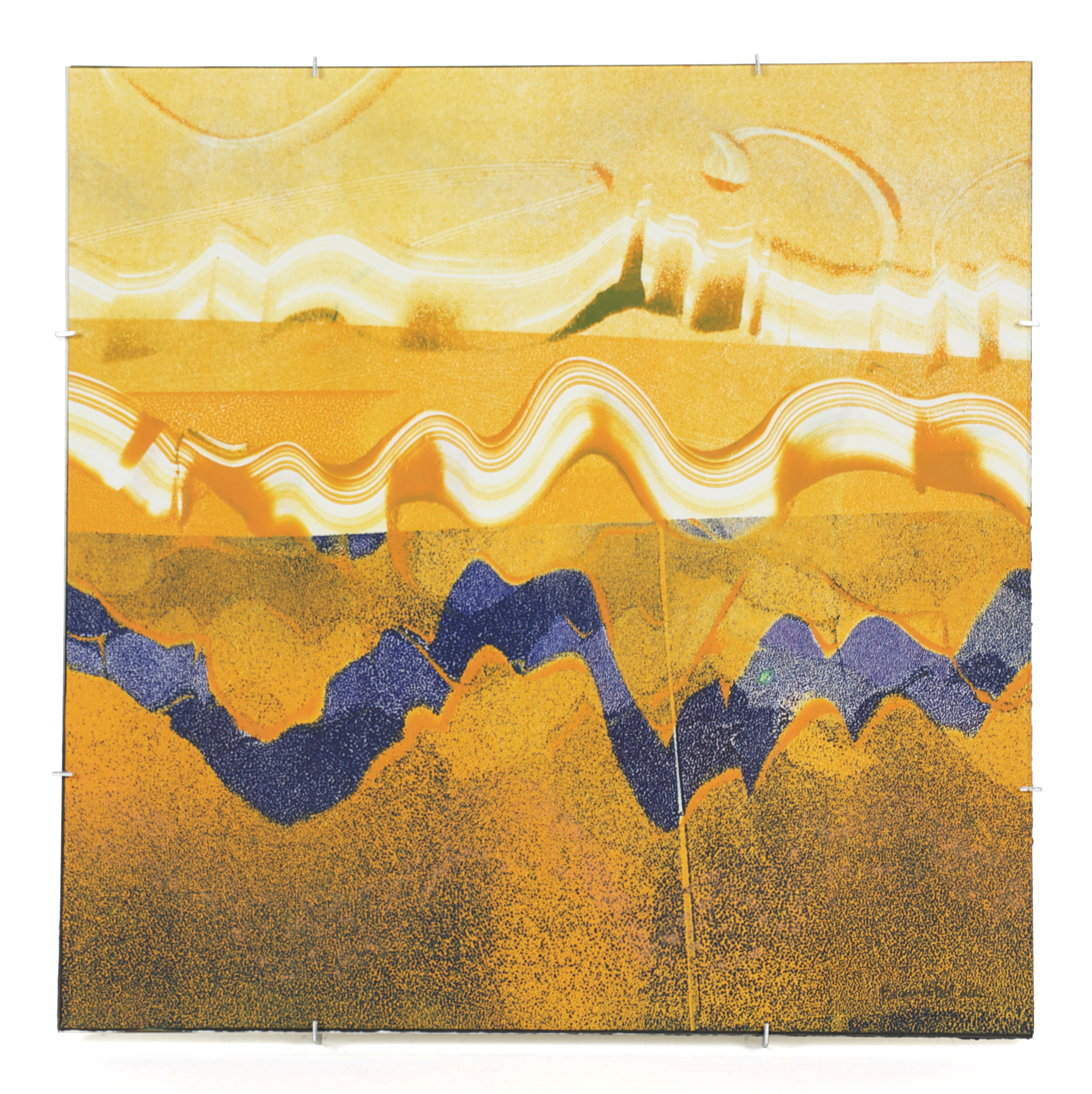 Beanne Hull     Fault Lines , 2012  Mixed media on paper