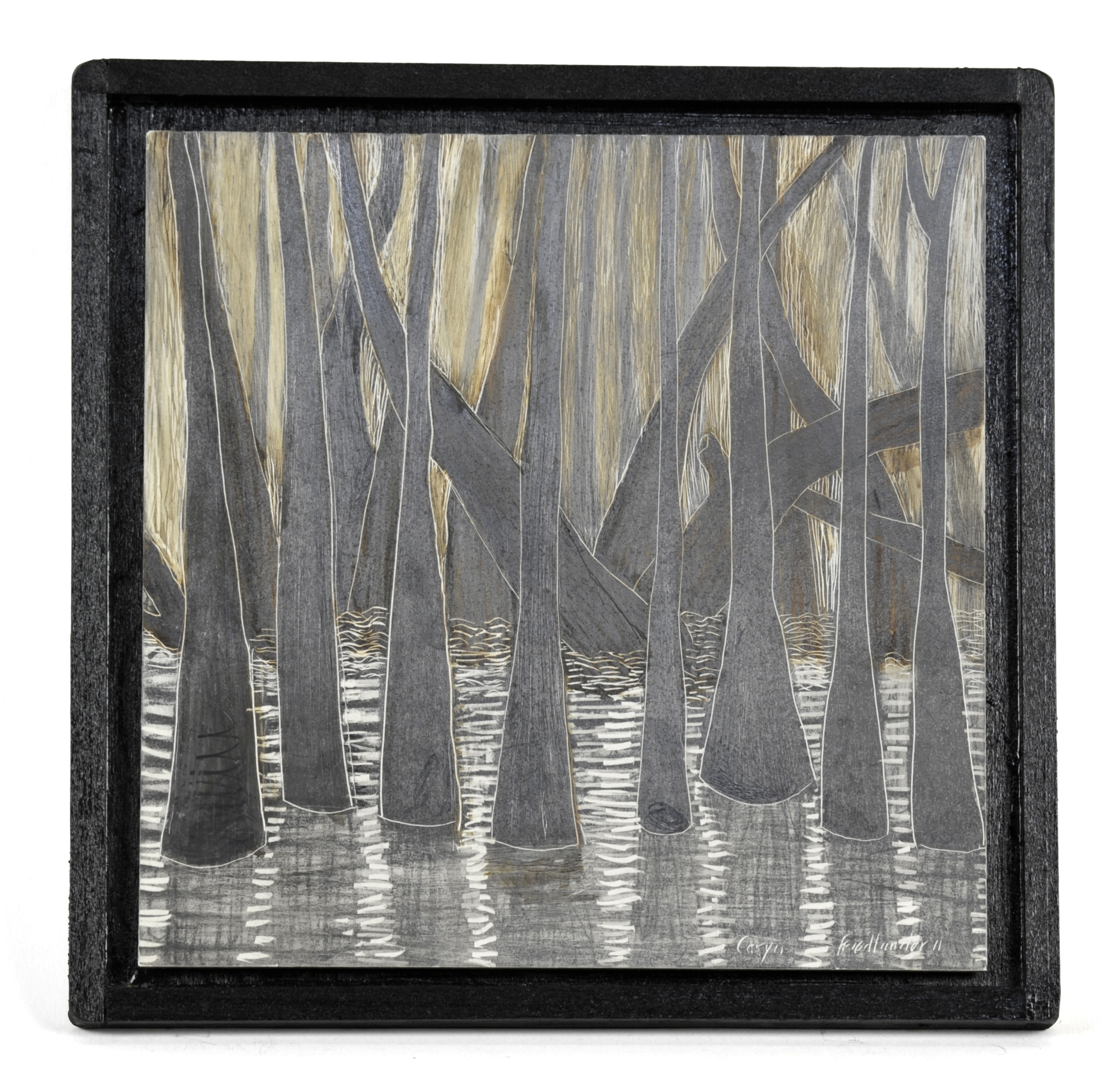 Caryn Friedlander     Little Jesse Bayou #  24 , 2011  Ink, graphite/clayboard