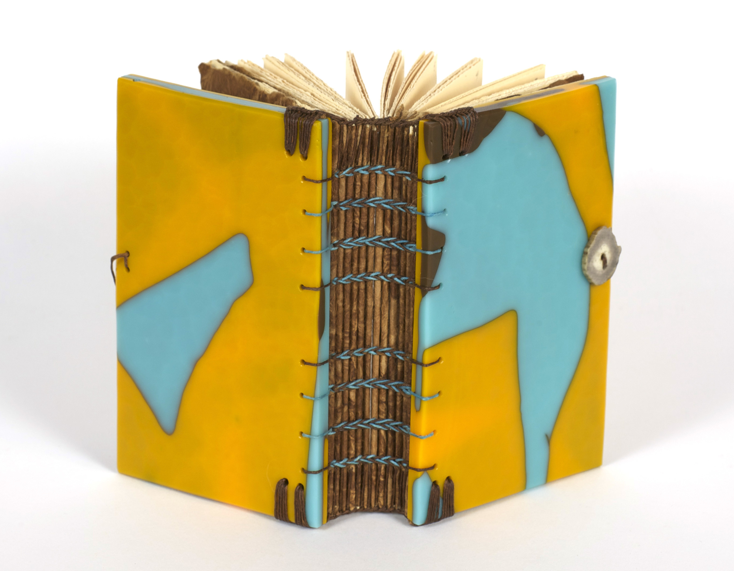 Donna Branch     Personal Scriptorium Book One , 2011  Mixed: glass, handmade paper, linen, antler