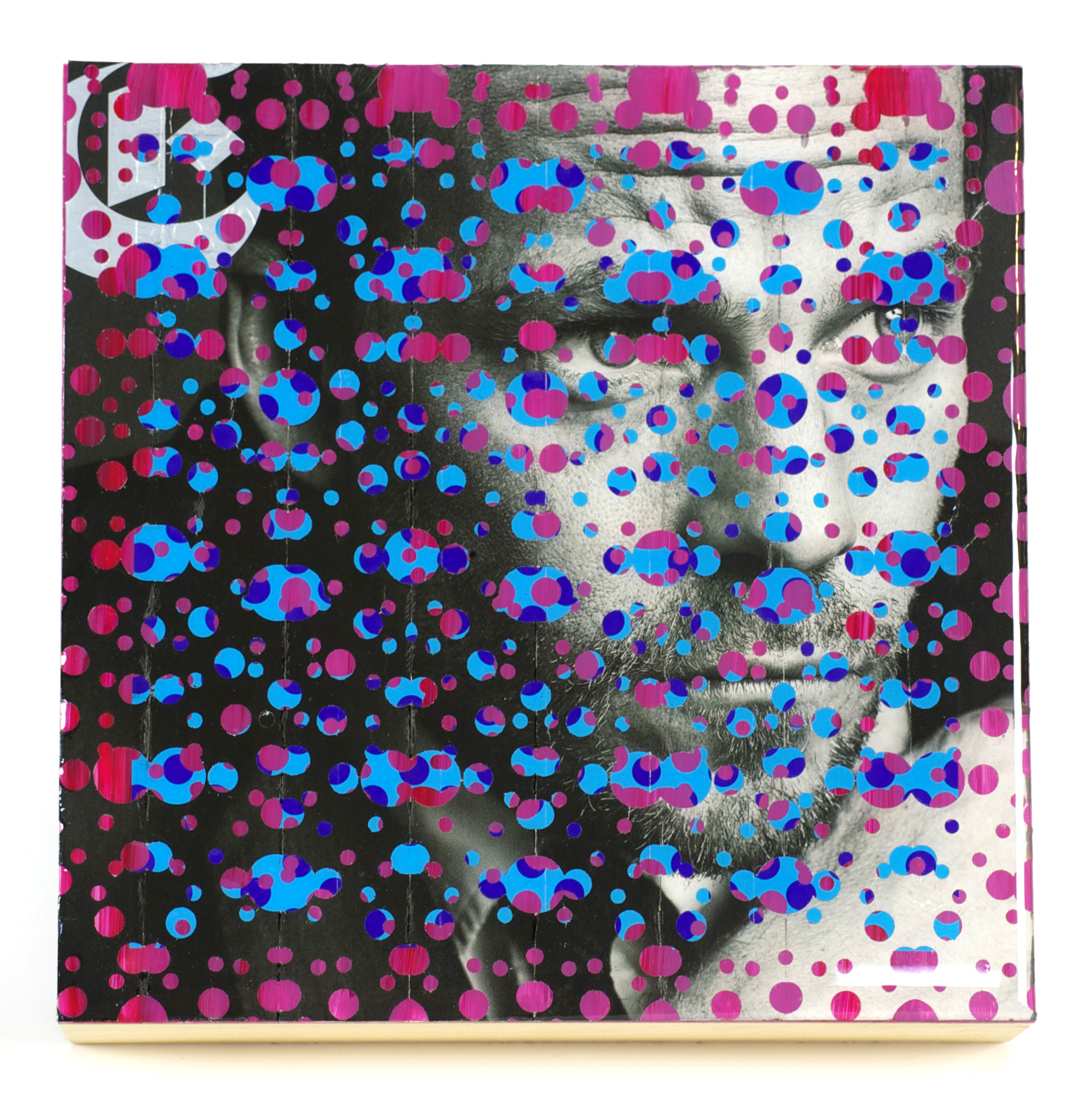 John Breitweiser    Dylan , 2010  Collage, acrylic and resin on canvas