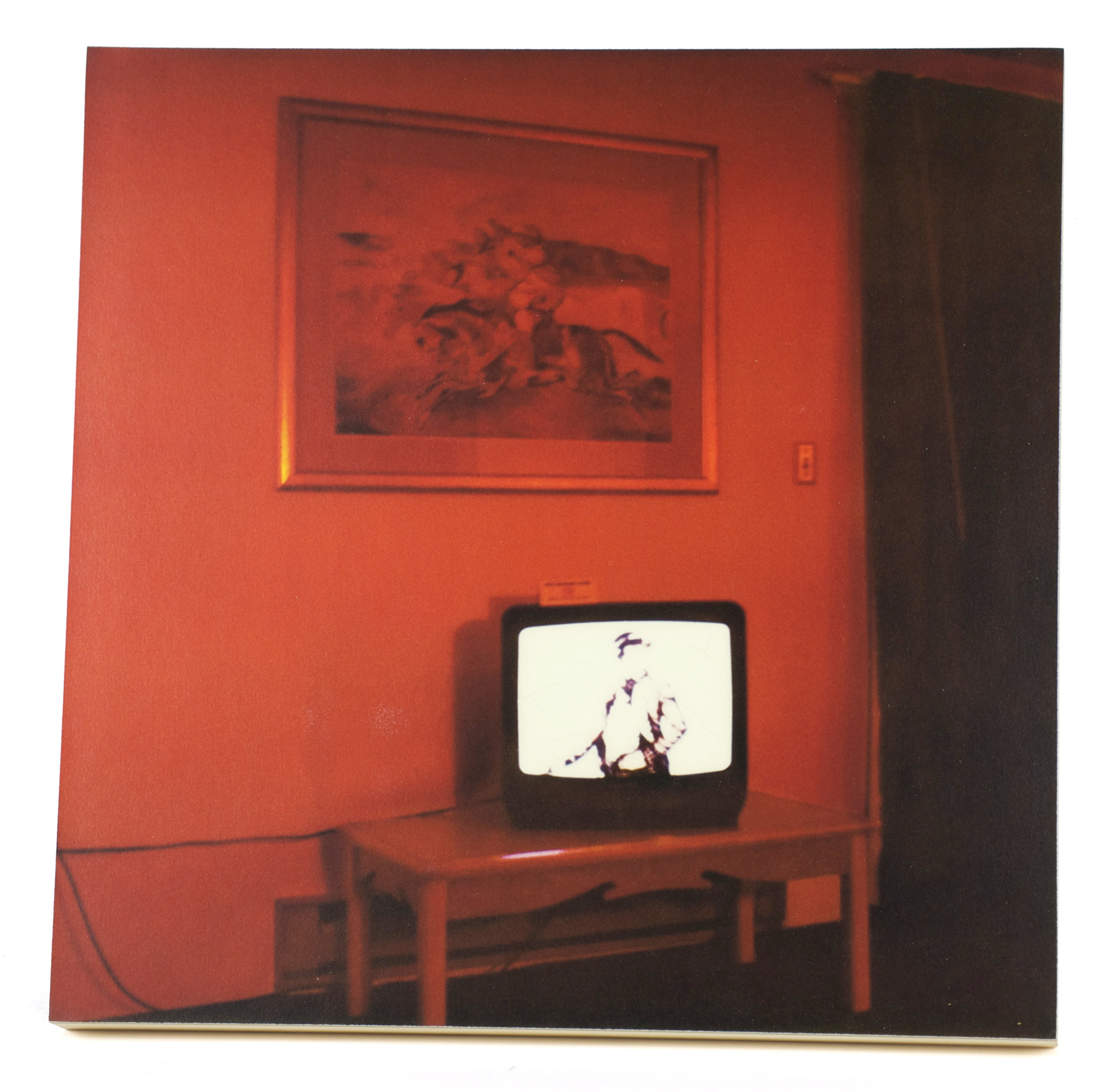 John Kane     In the Red Room , 2012  Enlarged Polaroid SX-70