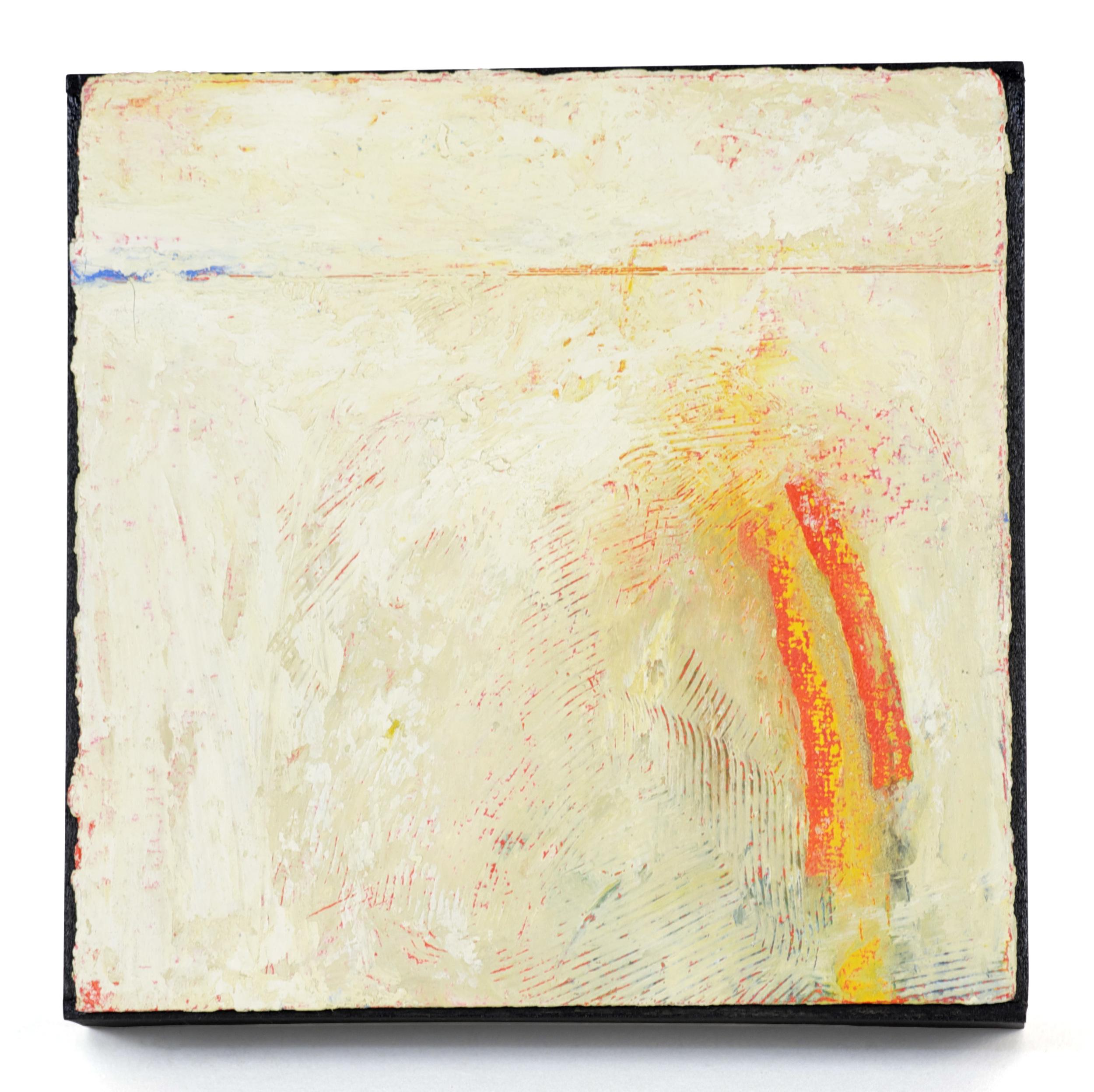 Kim Kopp     Orange Hover   Oil on paper over panel