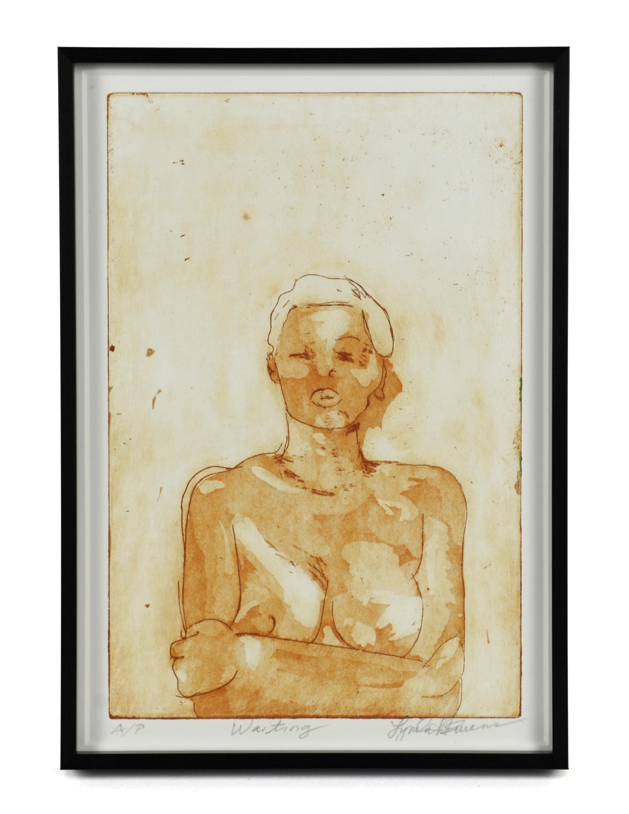 Lynda Harwood-Swenson     Aiting,  2011  Etching, aquatint