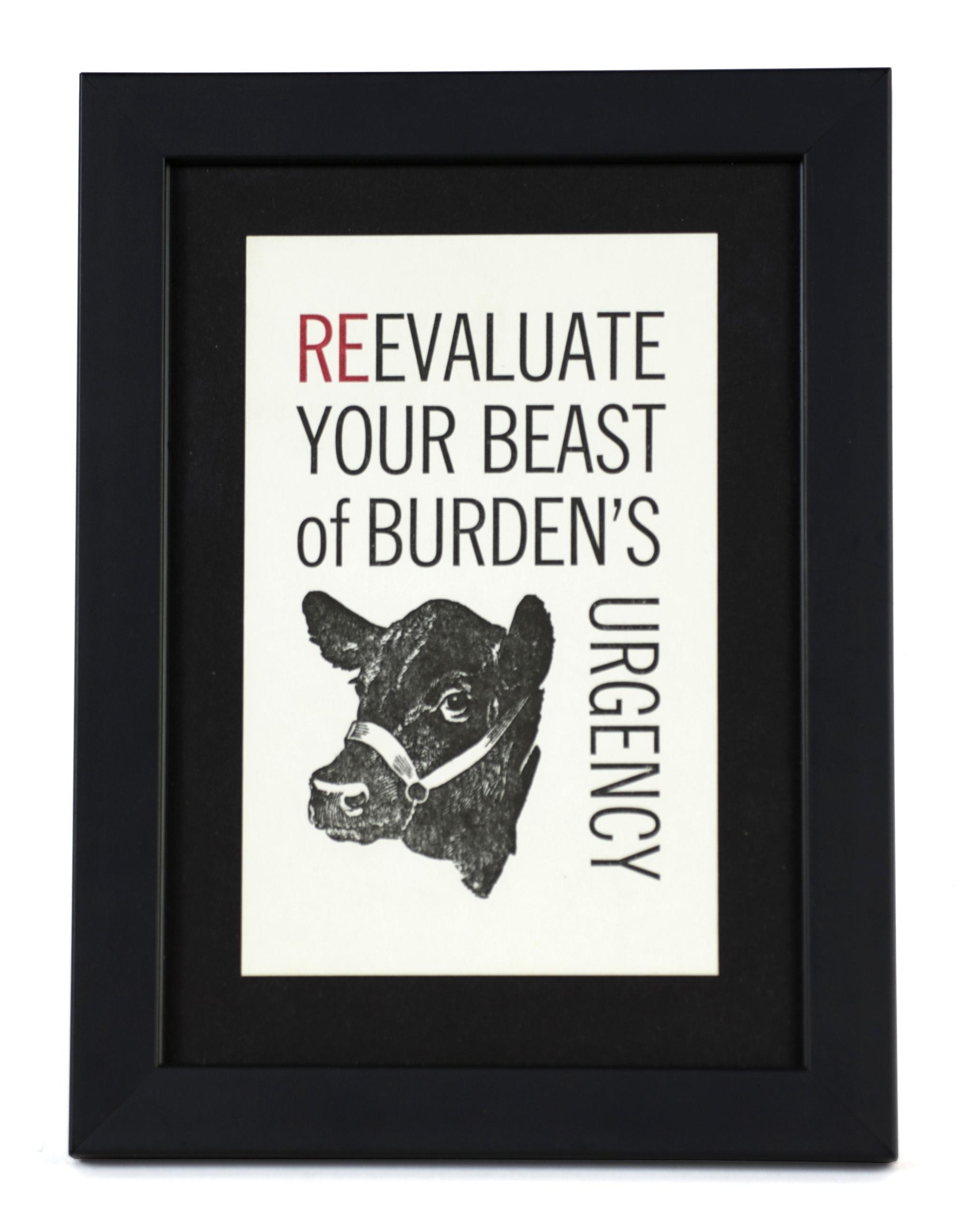 Myrna Knode     Beast of Burden , 2011  Letterpress, printed at Stern & Faye