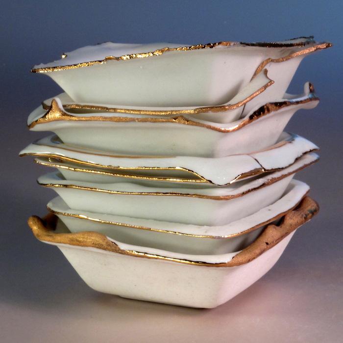 Nathaniel Buckner     Untitled , 2012  Porcelain, luster