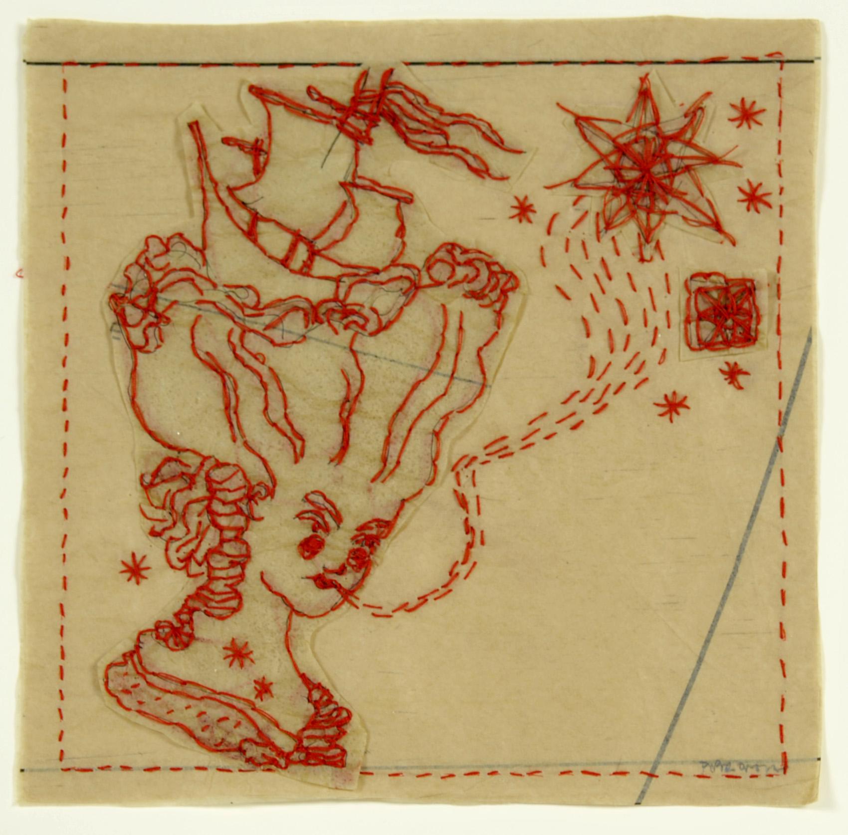 Piper O'Neill     A Fair Ship , 2012  Tissue and thread