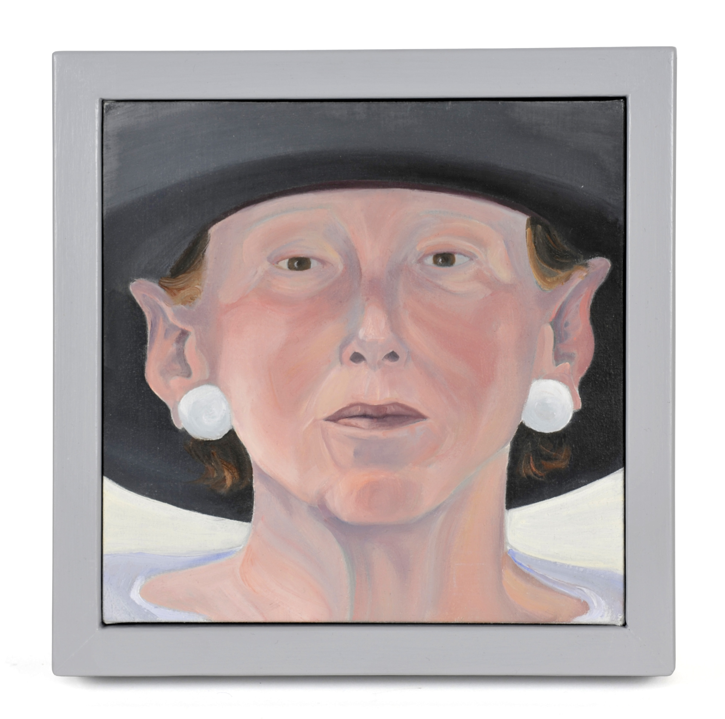 Sandra Westford     Penn In A Hat,  2011  Oil on fabric mounted on panel