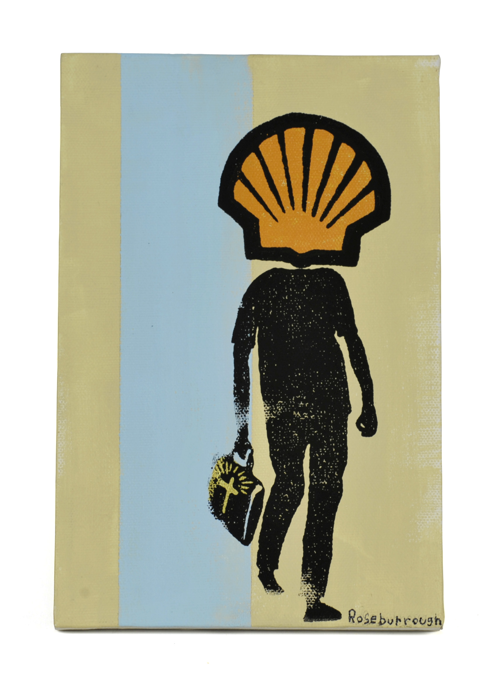 Scot Roseburrough     Petro Missionary,  2012  Acrylic and screen print