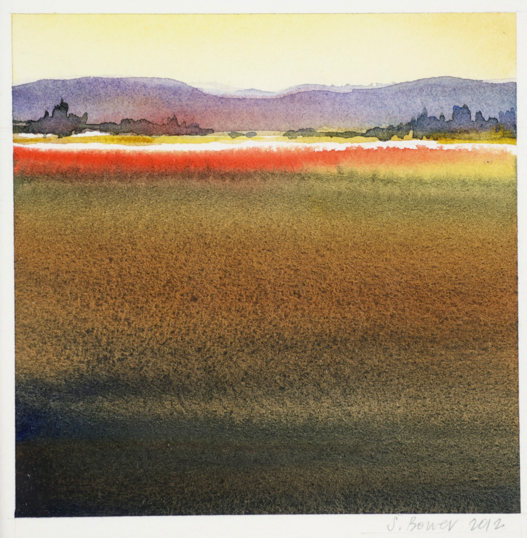 Stephanie Bower     Dry Side   2 , 2012  Watercolor