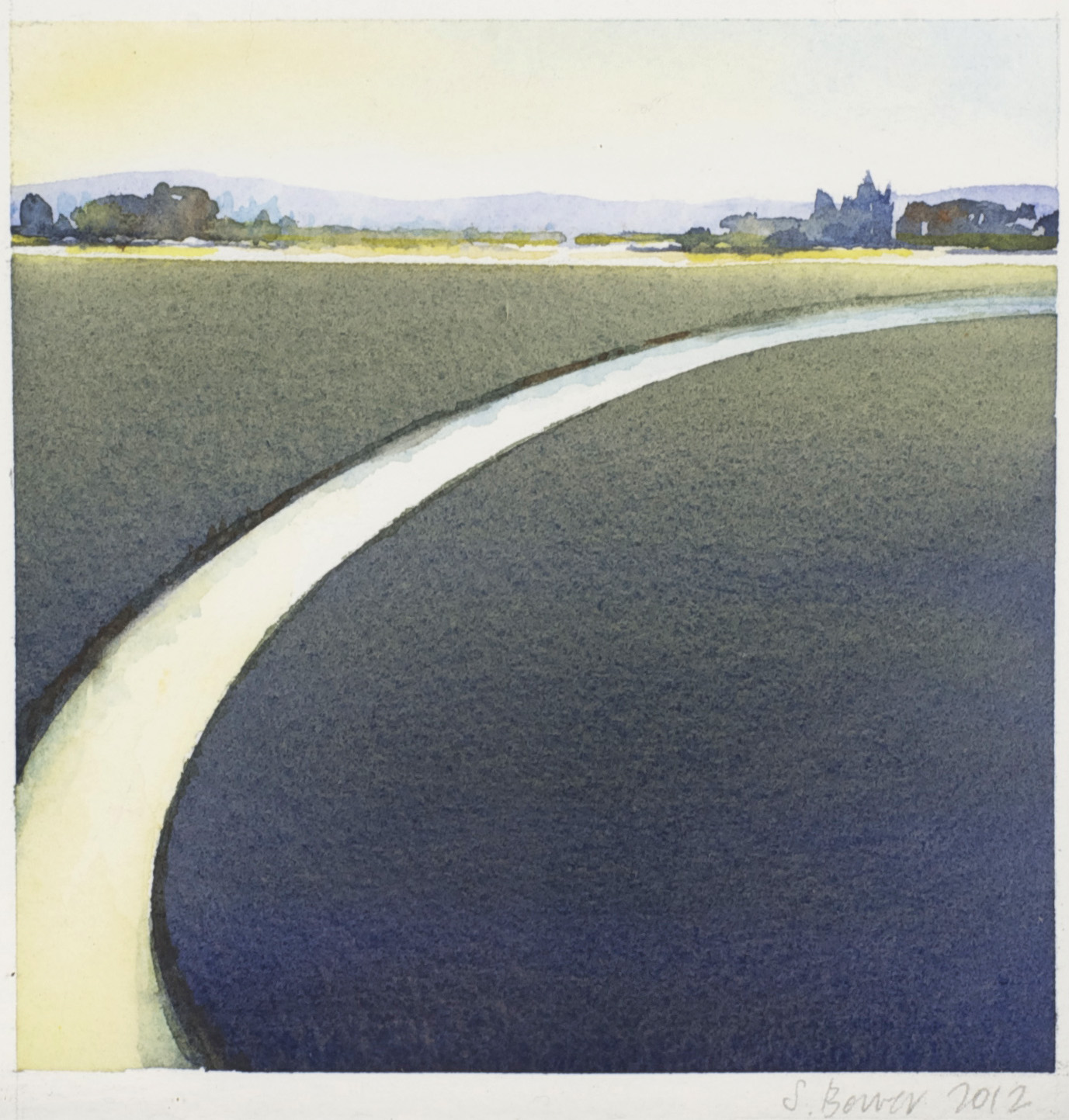 Stephanie Bower    Skagit Field   2 , 2012  Watercolor