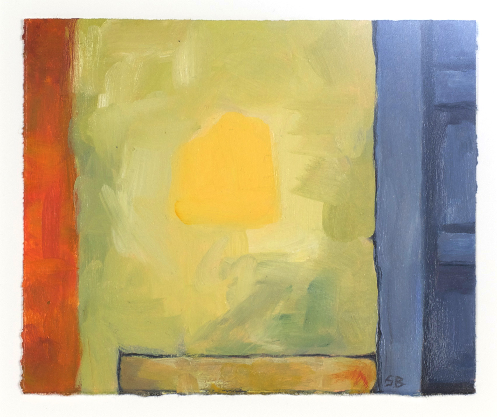 Susan Bennerstrom   Yellow Paint , 2010  Oil on paper