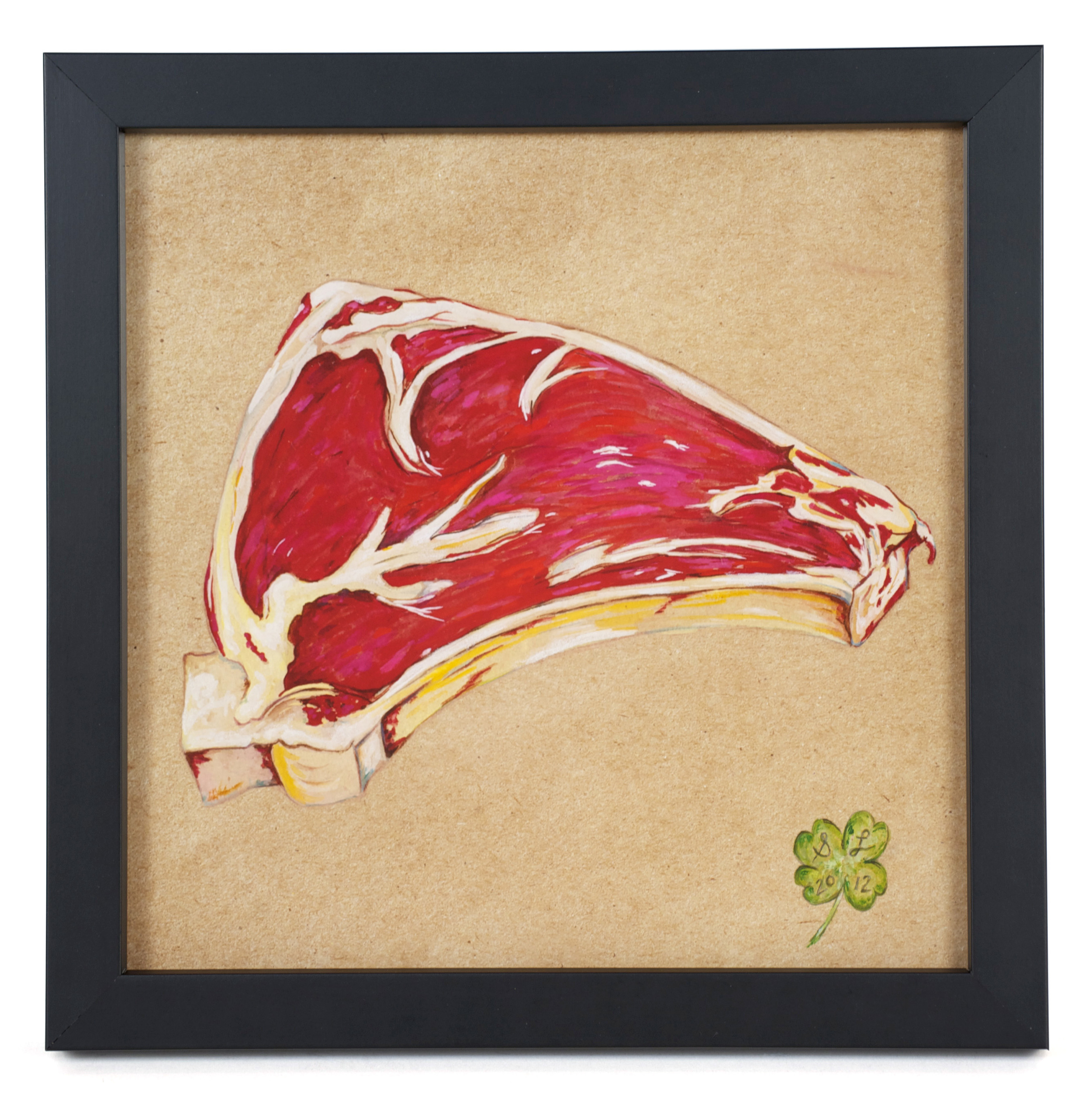 "Suzanne Lamon     Filet: From the Series, ""The Real Vegetarians,""  2012  Mixed: watercolor and colored pencil"
