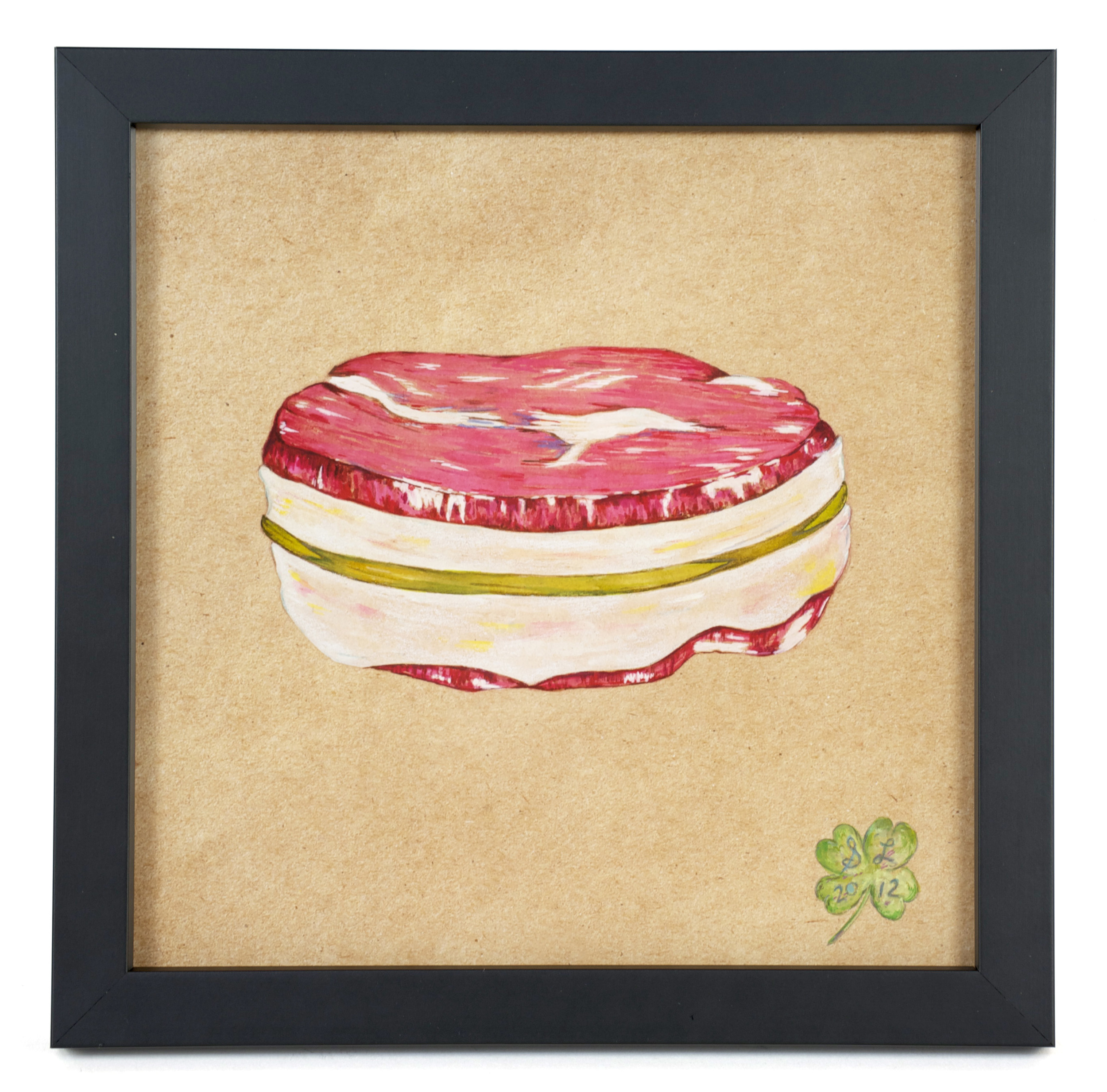"Suzanne Lamon    T-Bone #2: From the Series, ""The Real Vegetarians,""  2012   Mixed: watercolor and colored pencil"