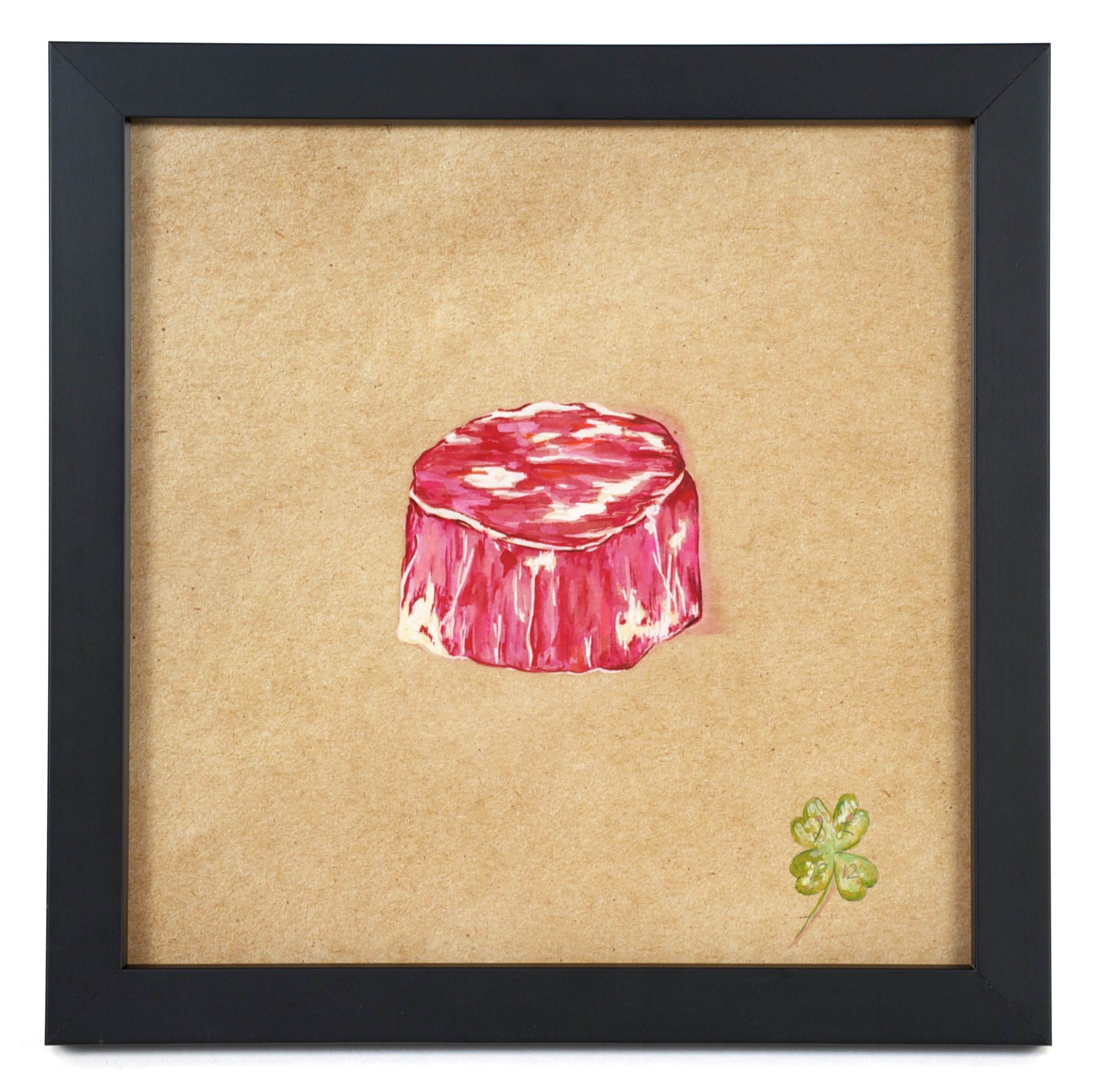 """Suzanne Lamon    Filet/Brother: From the Series, """"The Real Vegetarians,"""" 2012  Mixed: watercolor and colored pencil"""