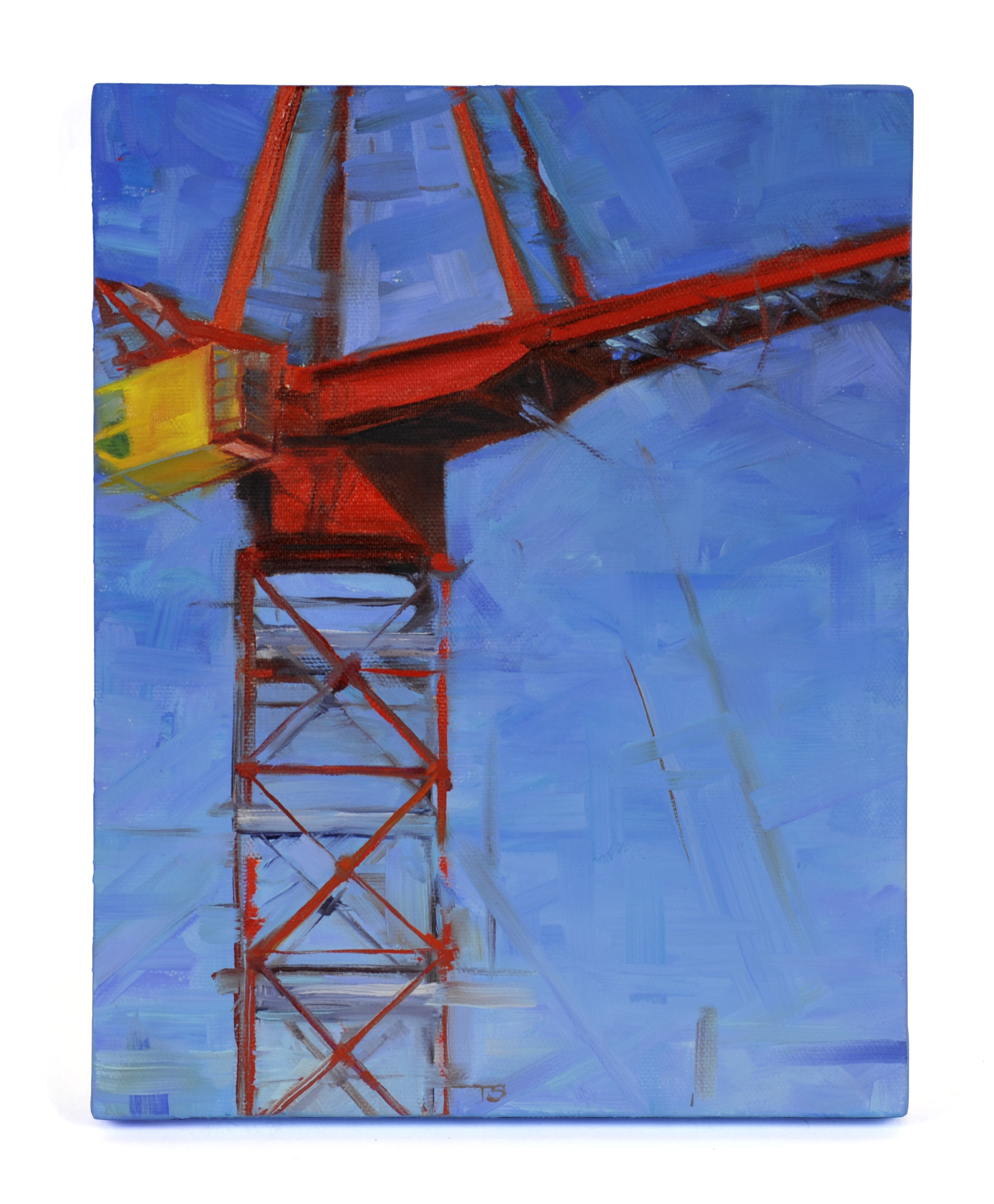 Tamara Stephas     Crane Composition: Yellow Cab,   2012    Oil on canvas