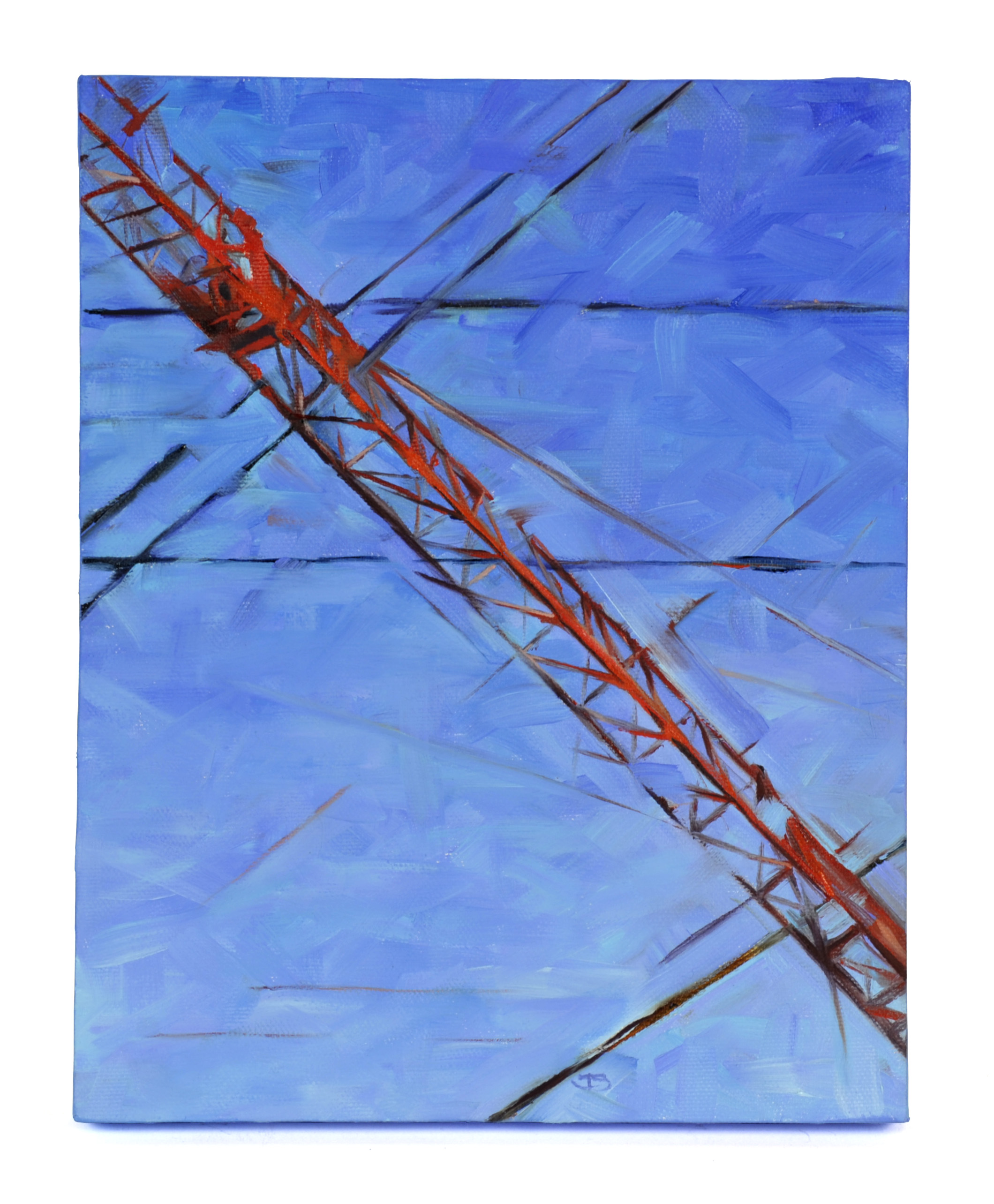 Tamara Stephas    Crane Composition: Red With Black Stave,   2012    Oil on canvas