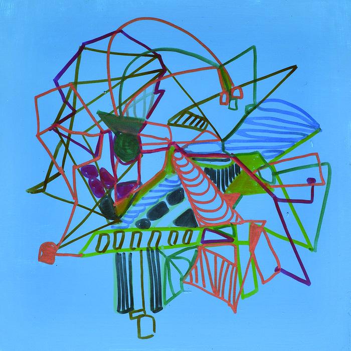 Carole D'Inverno      Alien Fancies  #7, 2014    Flashe vinyl paint, markers on board