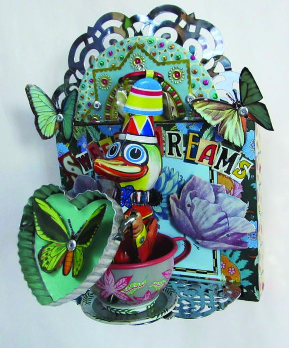 Jenny Fillius      Sweet Dreams , 2014     Repurposed tin