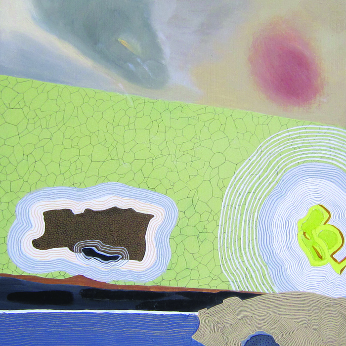 Meredith Nemirov      Subterranean Two , 2014     Oil on wood