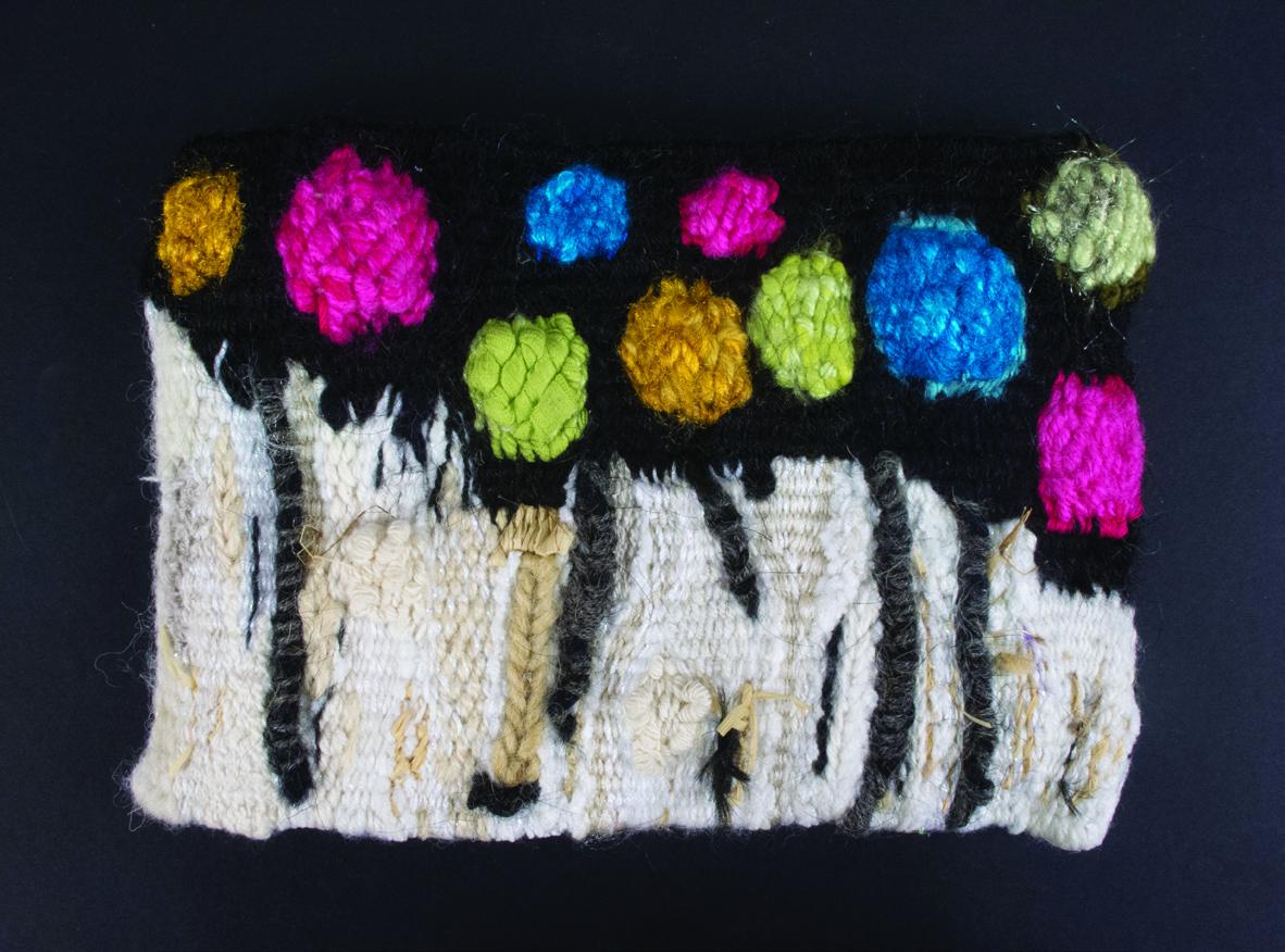 Doreen Trudel      Tree Series #3 , 2012     Handwoven tapestry