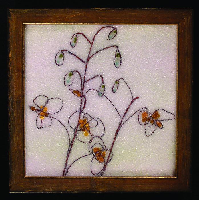 Joan Bazaz      Gold Epimedium , 2013     Glass and wire