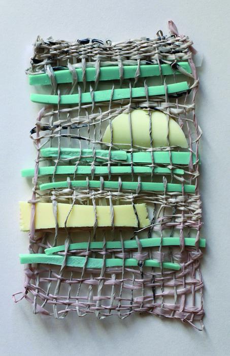 Deborah Morris   Wash Cloth , 2014  Hand spun recycled plastic bags, soap