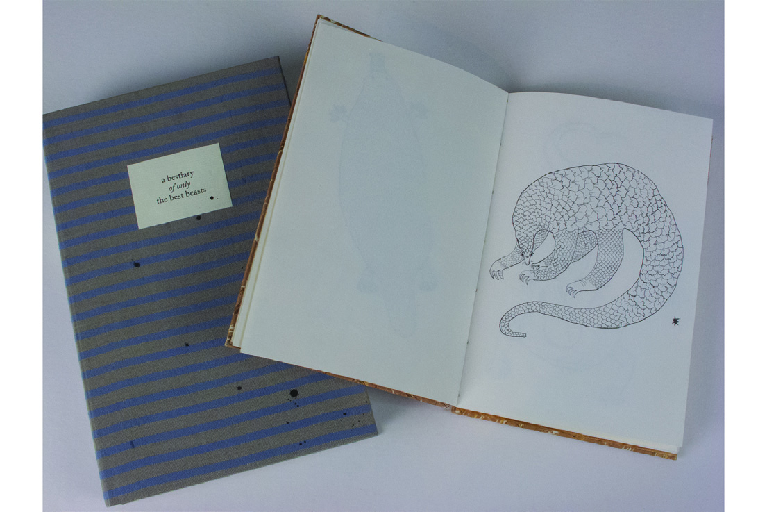 Roger Williams      A Bestiary of Only the Best Beasts , 2012    Book, photopolymer print