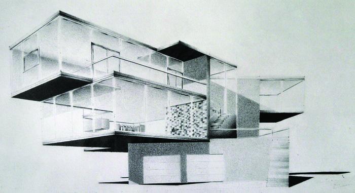 Thomas Howard    Beach House , 2014    Standard #2 pencil on sketchbook paper