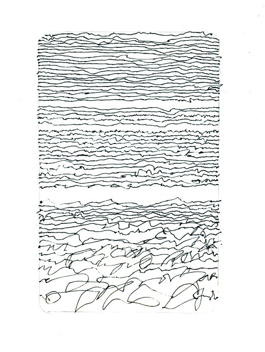 Adele Caemmerer      Hwy 18, Otis-Portland, 12/15/13, Mid-Route , 2013     Pen and paper