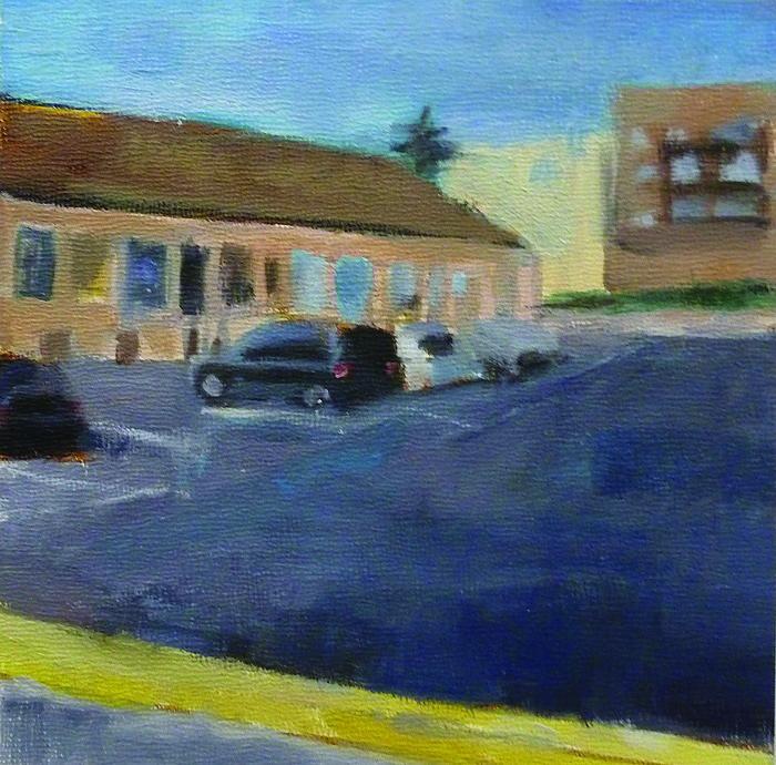 Runwen Chen      Quiet Zone #1 , 2014     Oil on canvas