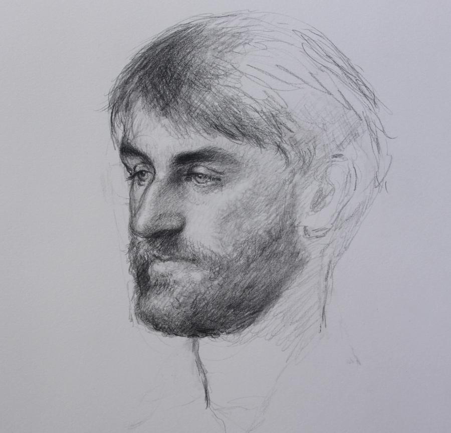 Bo Bartlett   Dan , 2010  Graphite on paper
