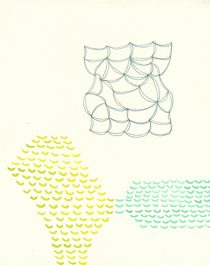 Lydia Bassis   Tincture , 2010  Gouache and graphite on paper