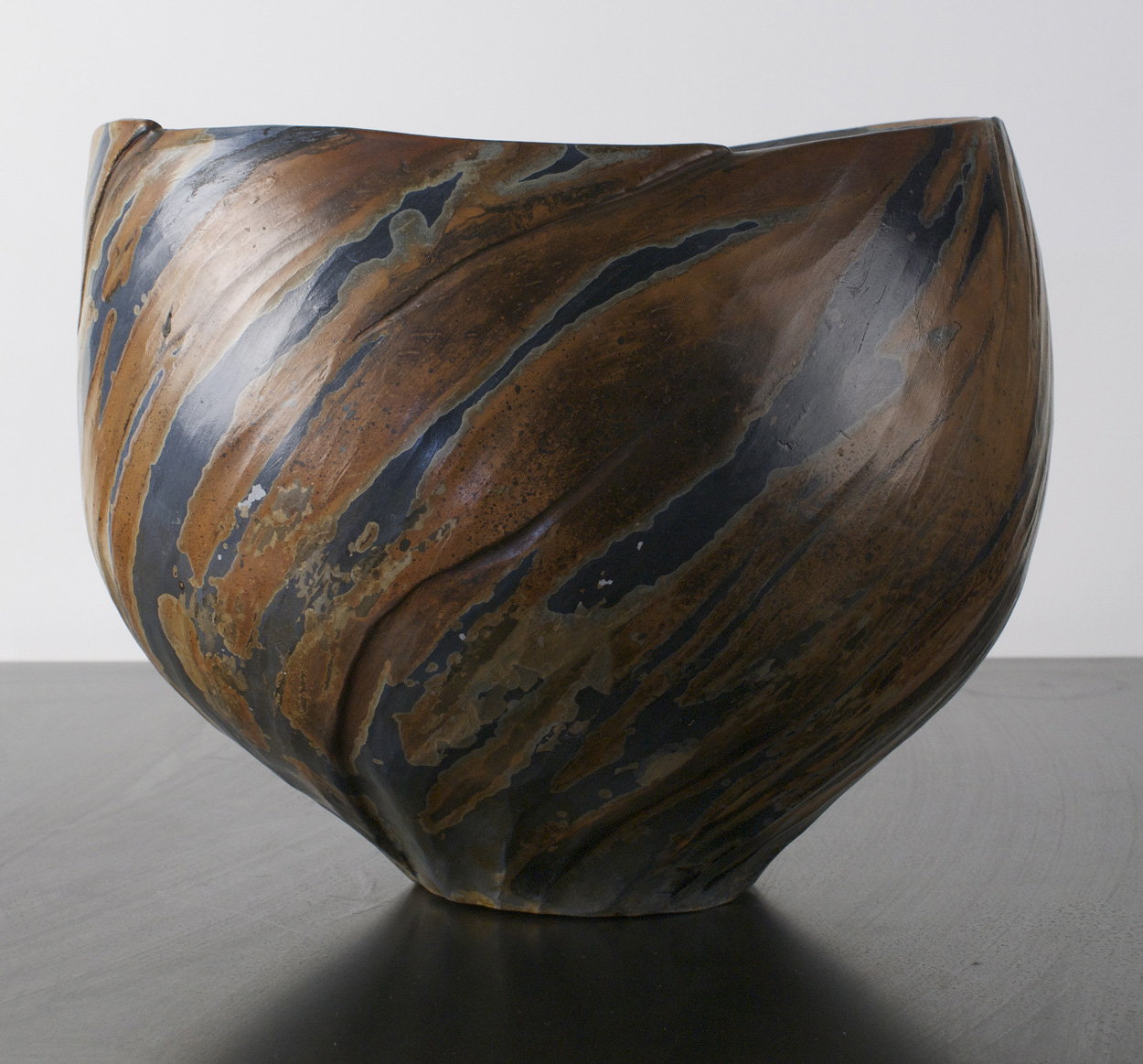 Jan Crocker   Outlines and Shadows (2?) , 2009  Clay saggar fired