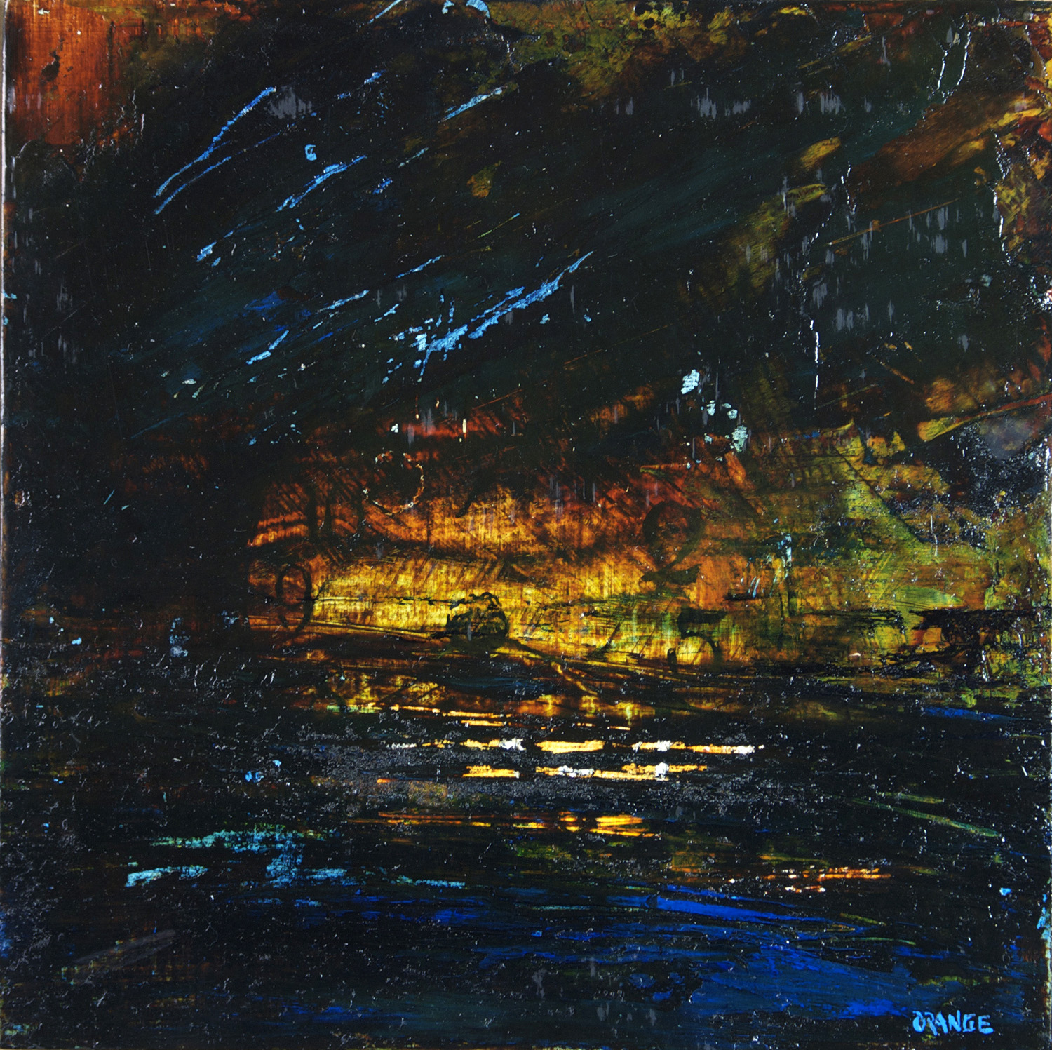 Darren Orange   Time Sets on Rip Horizon , 2010  Mixed media  Courtesy of Curtis Roegner Collection
