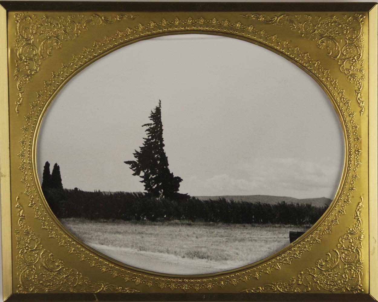 Carey Denniston   Untitles (N Tieton Rd), 2010  Silver gelatin print and found frame
