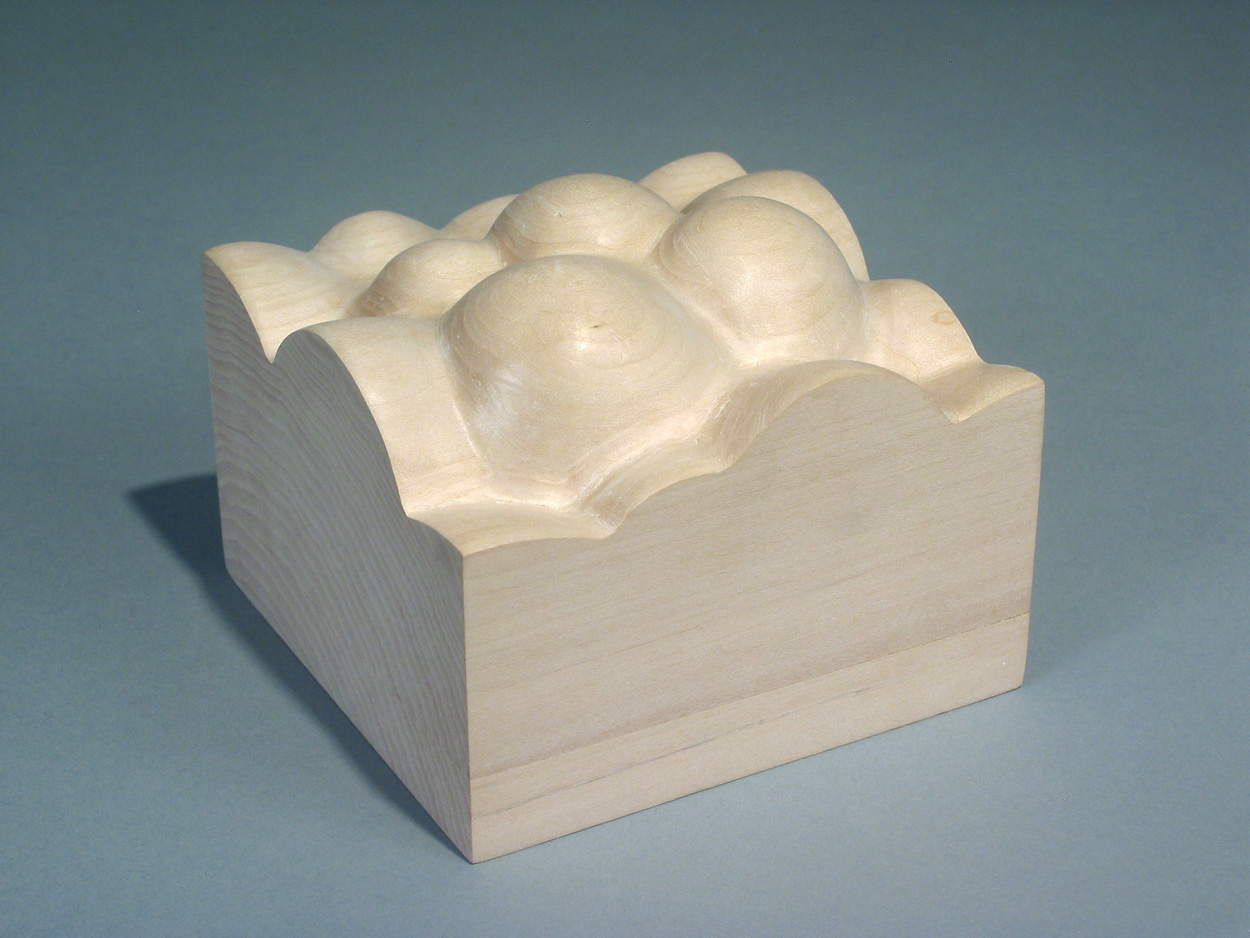 Erik Geschke   Froth , 2009  Carved basswood, poplar, and paint