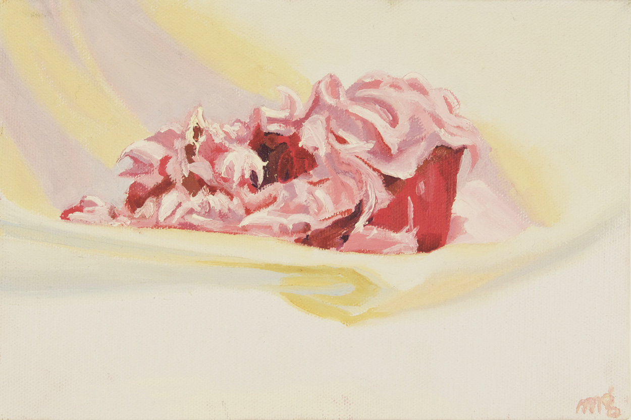 Meia Glick   Study for Mangled Cupcake #2 , 2009  Oil on canvas