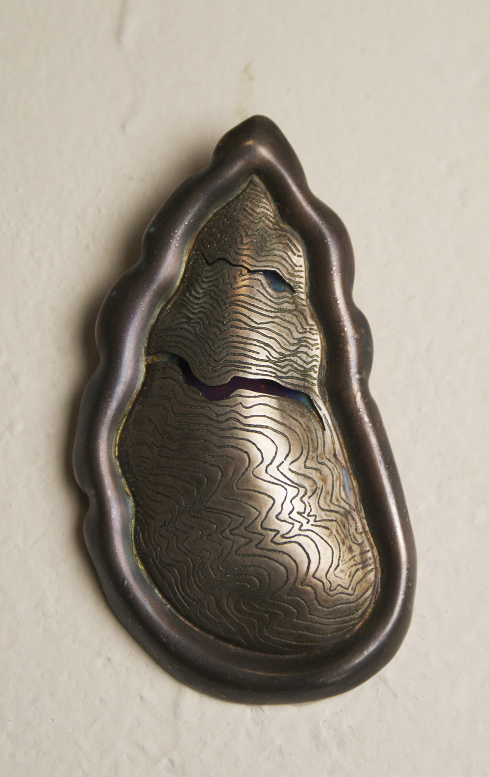 Amelia Gohn   Arboreal Scar , 2009  Sterling and fine silver