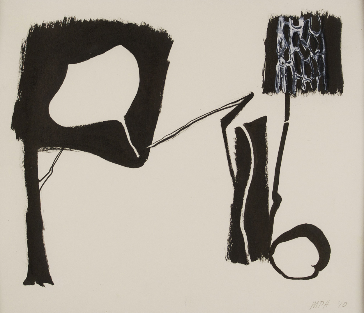 Mike Hascall   Untitled (Leaf) , 2010  Ink and gouache on paper