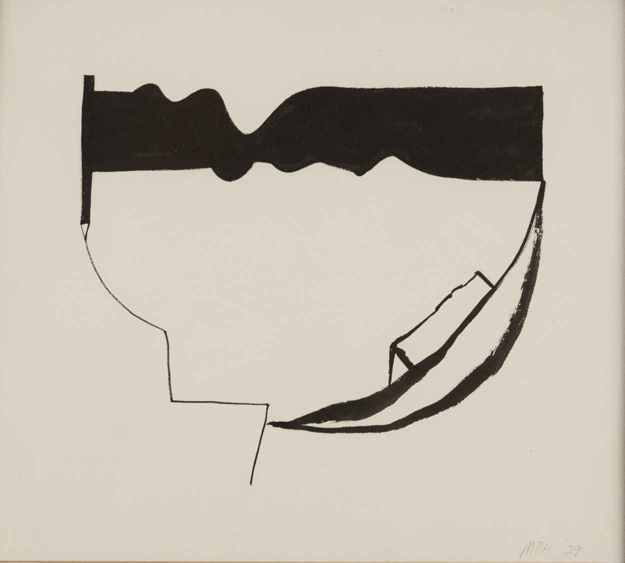 Mike Hascall   Untitled (Boat) , 2009  Ink on paper