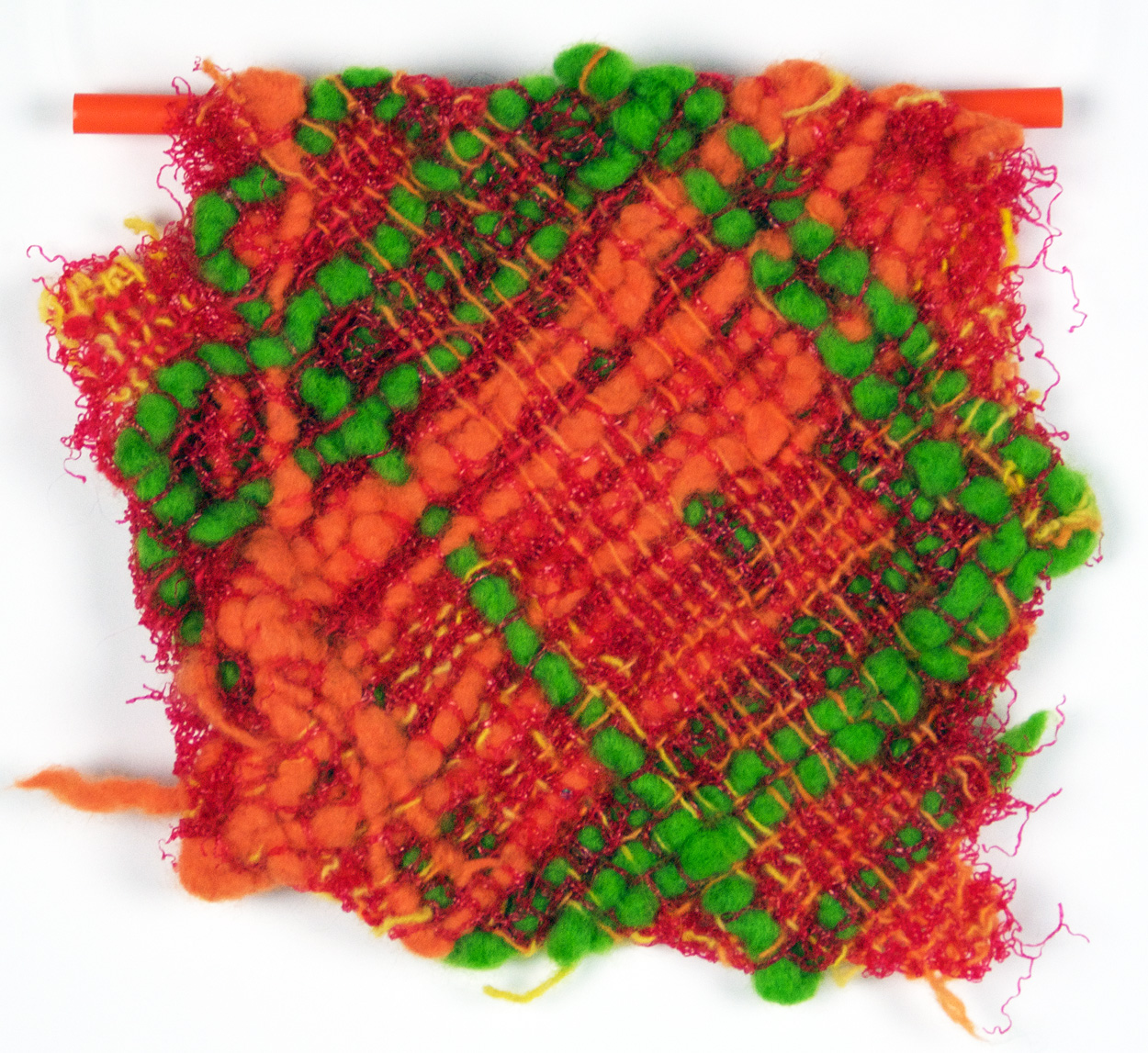 Judy Hurcomb   Citrus , 2010  Felted wool and pastic mesh