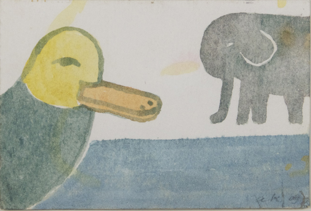 Andrew Keating   Duck & Elephant , 2009  Watercolor on paper