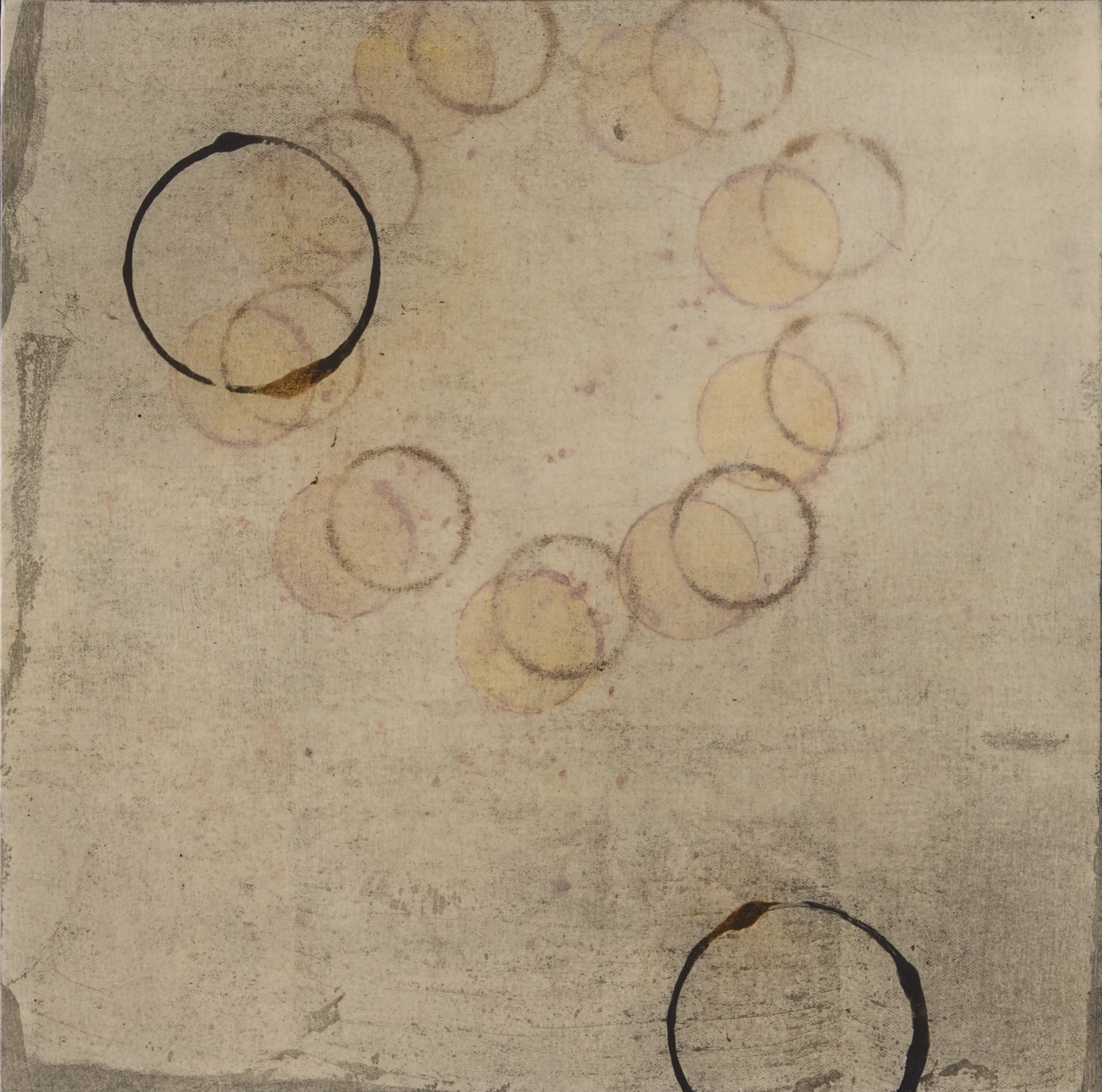 Kim Kopp   Star Circle , 2008  Graphite and dry pigments on Japanese papers over panel