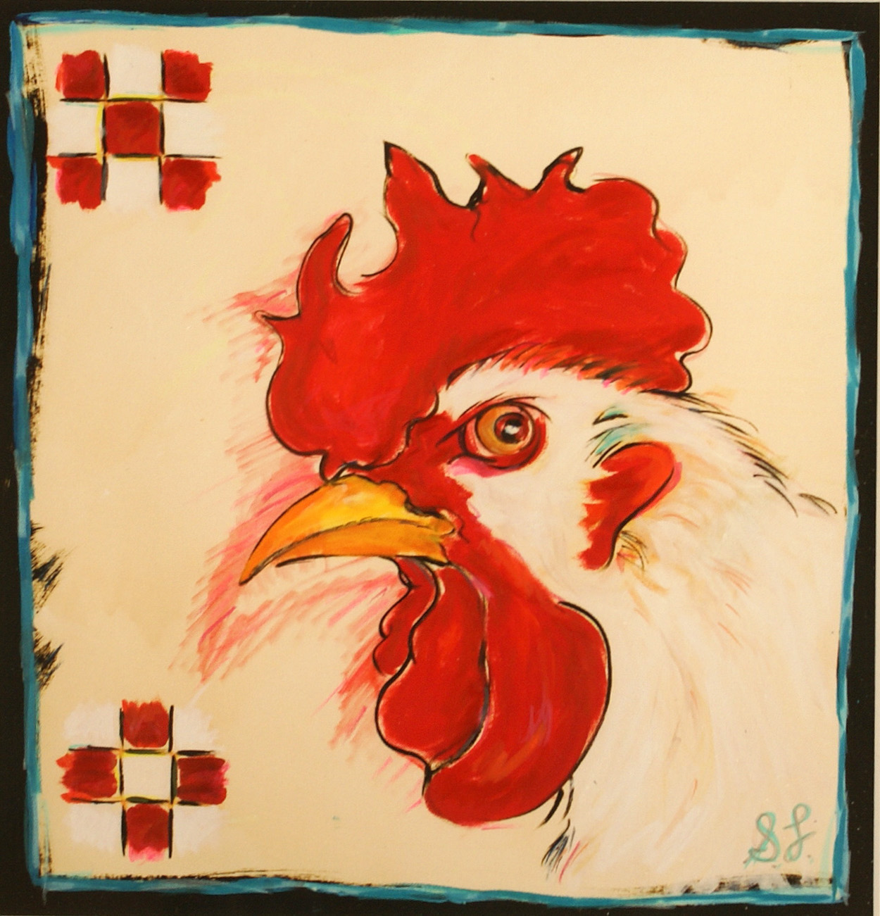 Suzanne Lamon   Chicken from the Purina Series , 2010  Mixed media