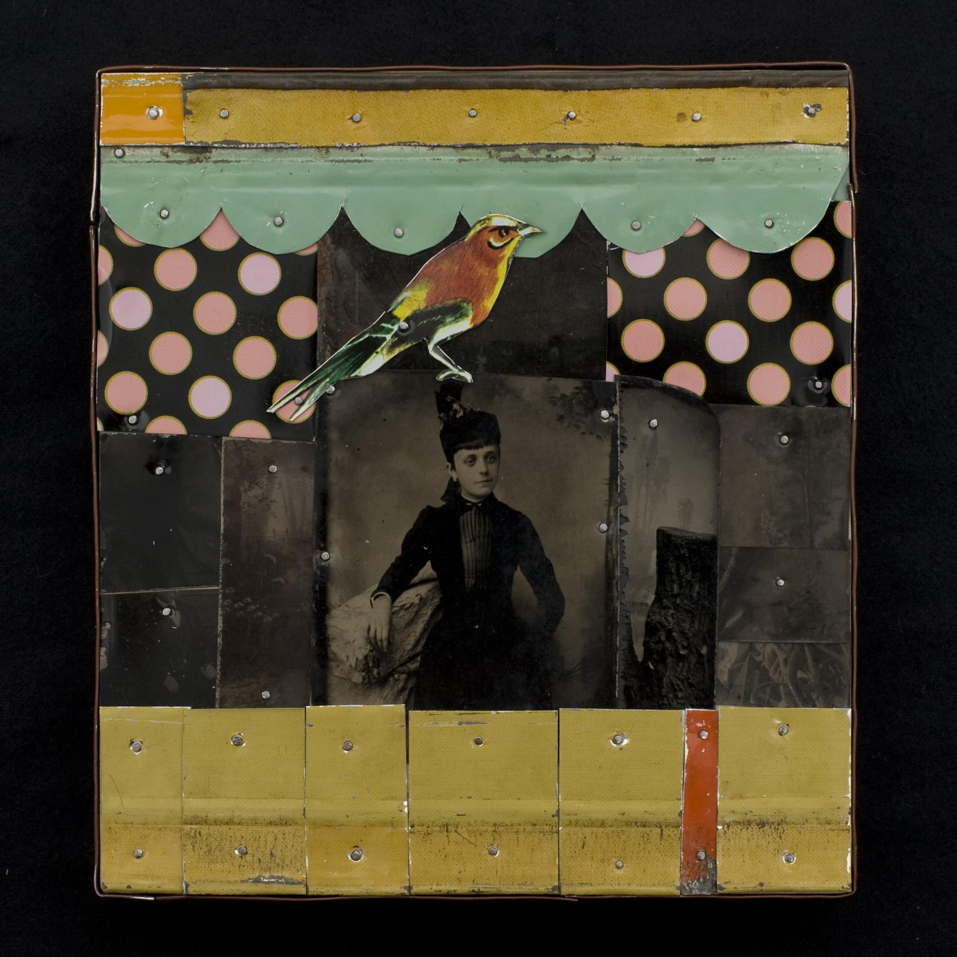 Nia Michaels   Good Bird , 2010  Tins and tin type photos