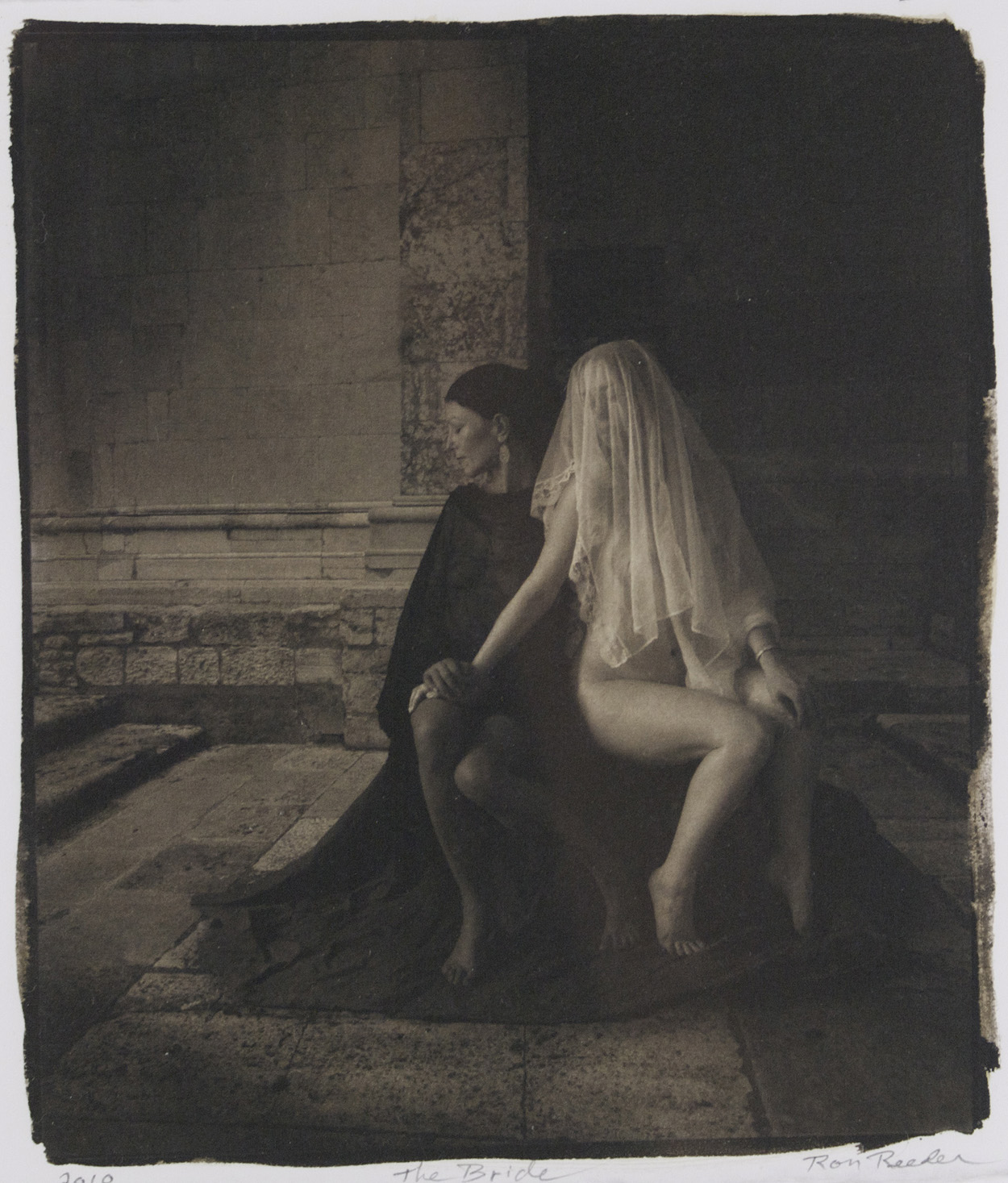 Ron Reeder   The Bride , 2010  Hand-coated palladium prints with an overcoat of gum bichromate